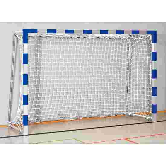 Sport-Thieme Hallenhandballtor  3x2 m, in Bodenhülsen stehend Verschraubte Eckverbindungen, Blau-Silber