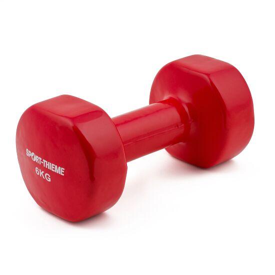Sport-Thieme Haltère court en vinyle 6 kg, rouge foncé