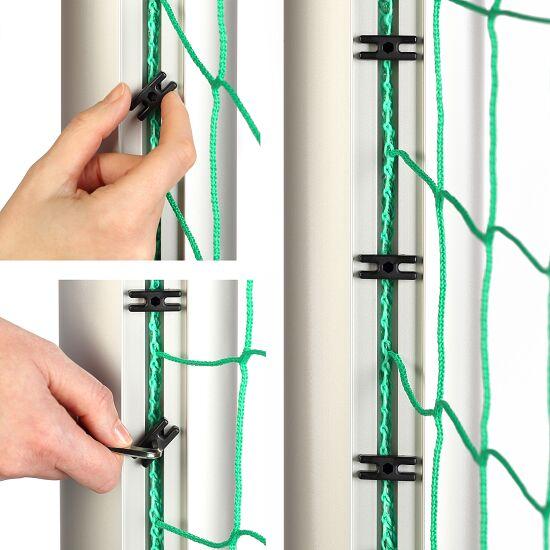 Sport-Thieme® Jugendfussballtor 5x2 m, Quadratprofil, in Bodenhülsen stehend Verschraubte Eckverbindungen