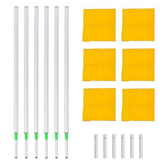 Sport-Thieme Kit de poteaux de délimitation articulés Fanion jaune fluo