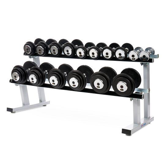Sport-Thieme® Lot d'haltères compacts 2,5-22,5 kg, avec support d'haltères double