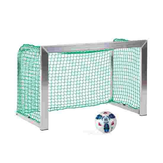 Sport-Thieme Mini but d'entraînement avec supports de filet pliables 1,20x0,80 m, profondeur 0,70 m, Filet inclus, vert (mailles 4,5 cm)