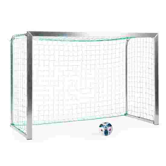 Sport-Thieme Mini but d'entraînement avec supports de filet pliables 2,40x1,60 m, profondeur 1,00 m, Filet inclus, vert (mailles 10 cm)