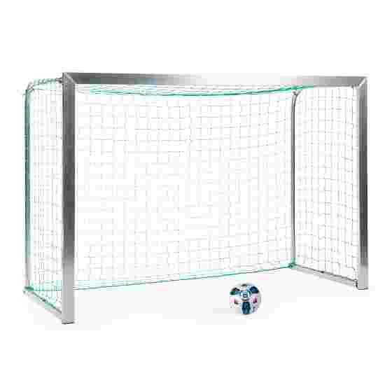 Sport-Thieme Mini-Trainingstor mit anklappbaren Netzbügeln 2,40x1,60 m, Tortiefe 1,00 m, Inkl. Netz, grün (MW 10 cm)