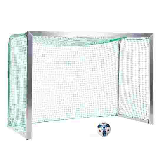 Sport-Thieme Mini-Trainingstor mit anklappbaren Netzbügeln 2,40x1,60 m, Tortiefe 1,00 m, Inkl. Netz, grün (MW 4,5 cm)