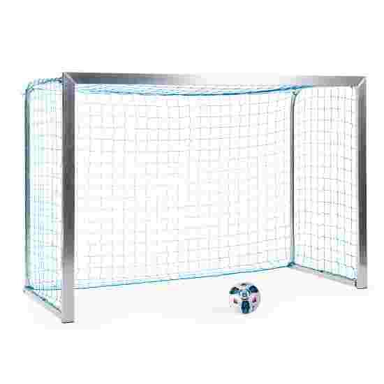 Sport-Thieme Mini-Trainingstor mit anklappbaren Netzbügeln 2,40x1,60 m, Tortiefe 1,00 m, Inkl. Netz, blau (MW 4,5 cm)