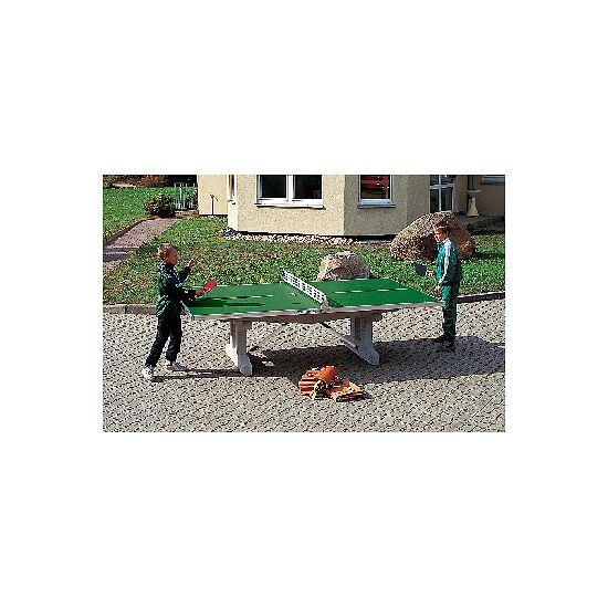 """Sport-Thieme Polymerbeton-Tischtennisplatte """"Premium"""" Grün, Kurzer Fuss, freistehend"""