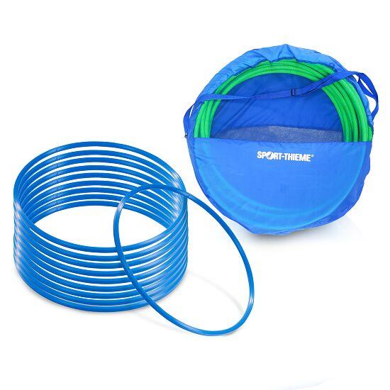 Sport-Thieme Set Gymnastikreifen ø 50 cm plus Aufbewahrungstasche Blau
