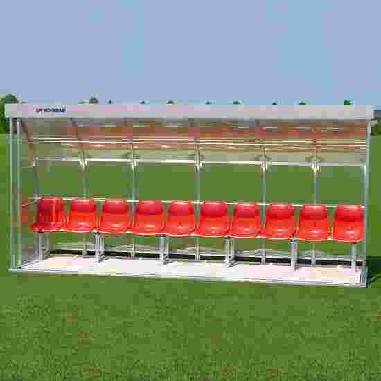 Sport-Thieme Spielerkabine für 10 Personen Sitzschale, Acrylglas