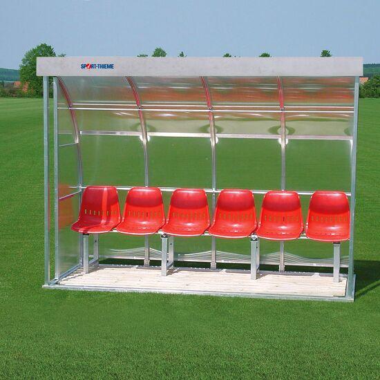 Sport-Thieme Spielerkabine für 6 Personen Verglasung: Polycarbonat, Sitzschale