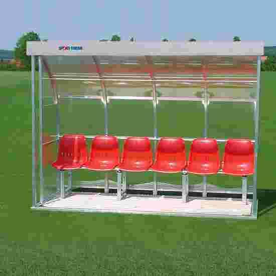Sport-Thieme Spielerkabine für 6 Personen Verglasung: Acrylglas, Sitzschale