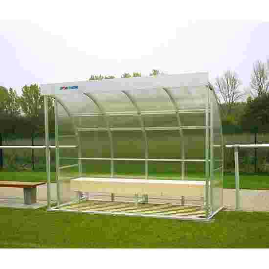Sport-Thieme Spielerkabine für 6 Personen Verglasung: Acrylglas, Sitzbank