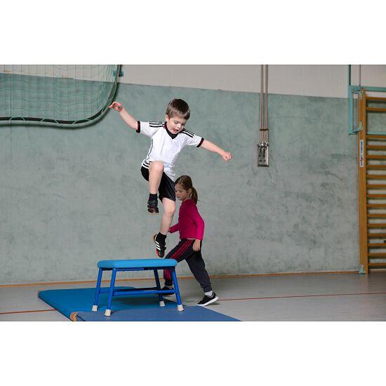 Sport-Thieme® Sprung- und Turnhocker Kunstlederbezug, Blau