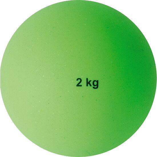 Sport-Thieme Stosskugel aus Kunststoff 2 kg, Grün, ø 114 mm