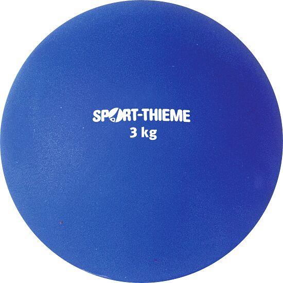 Sport-Thieme Stosskugel aus Kunststoff 3 kg, Blau, ø 121 mm