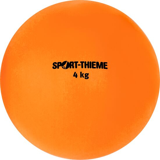 Sport-Thieme Stosskugel aus Kunststoff 4 kg, Orange, ø 134 mm