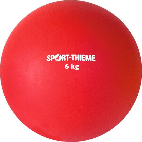 Sport-Thieme Stosskugel aus Kunststoff 6 kg, Rot ø 140 mm