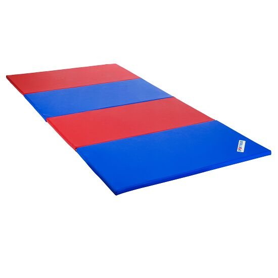 Sport-Thieme Tapis pliable 240x120x3 cm, Bleu-rouge