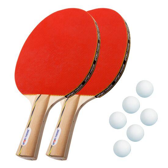 """Sport-Thieme® Tischtennisschläger-Set """"Wien"""" Bälle Weiss"""
