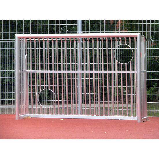 Sport-Thieme® Vollverschweisstes Bolzplatztor mit Ballausschnitten Quadratprofil 80x80 mm, 300x200x60 cm