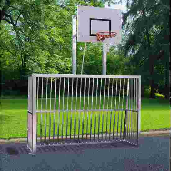 Sport-Thieme Vollverschweisstes Bolzplatztor Quadratprofil 80x80 mm, 300x200x70 cm mit Basketball-Zielbrett