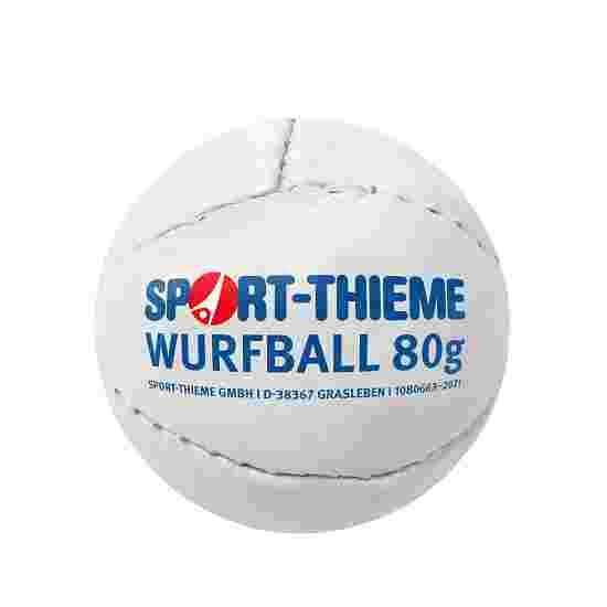 """Sport-Thieme Wurfball """"Leder 80"""" Weiss"""