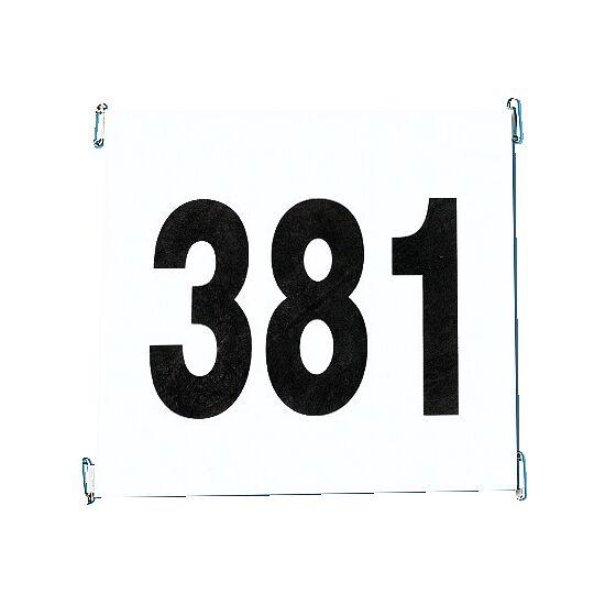 Startnummernsatz aus reissfestem Papier Satz 1-100