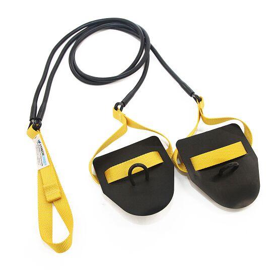 StrechCordz® avec paddle de main Jaune, résistance 2,2-6,3 kg