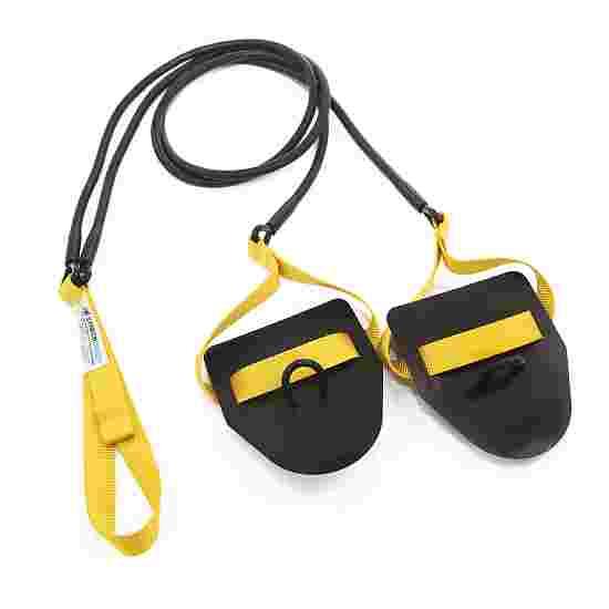 StrechCordz avec paddle de main Jaune, résistance 2,2-6,3 kg