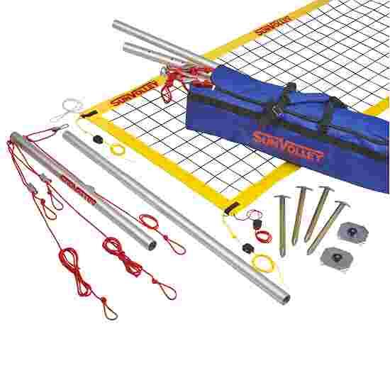 SunVolley Installation de beach-volley « Plus » Sans lignes de délimitation, 8,5 m