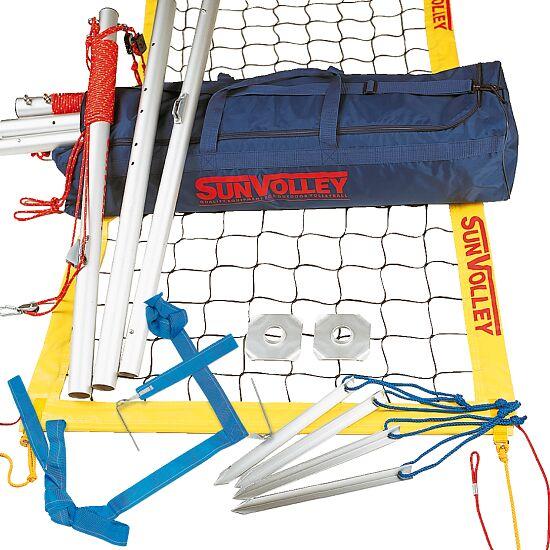 SunVolley Installation de beach-volley « Plus » Avec lignes de délimitation