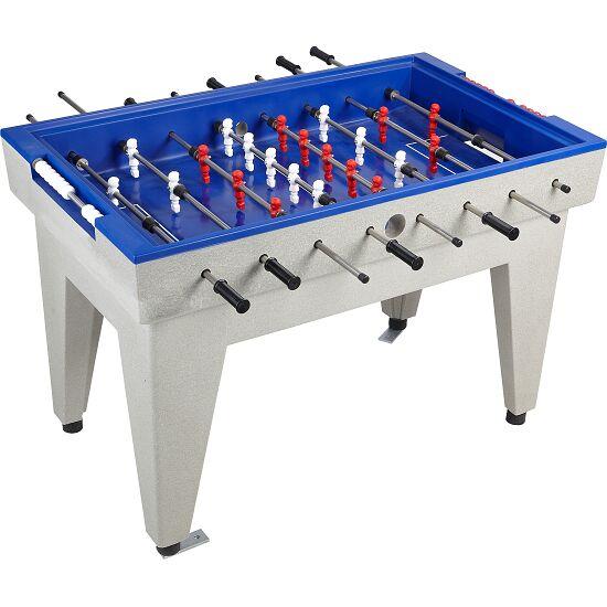 Table de baby-foot en béton polymère Bleu