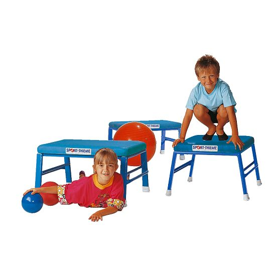 Tabouret de saut et de gymnastique Sport-Thieme® Simili cuir, bleu