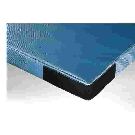 Tapis de gymnastique Sport-Thieme « Super», 150x100x6 cm Basique, Tissu de tapis de gymnastique bleu