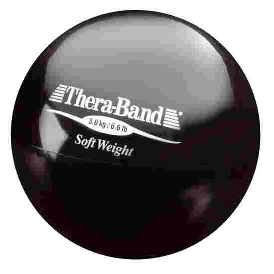 TheraBand Balle lestée « Soft Weight » 3 kg, noir