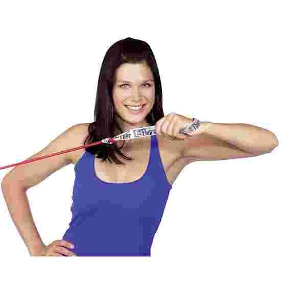 TheraBand Bodytrainer Tubing 1,4 m mit Griffen Rot, mittel