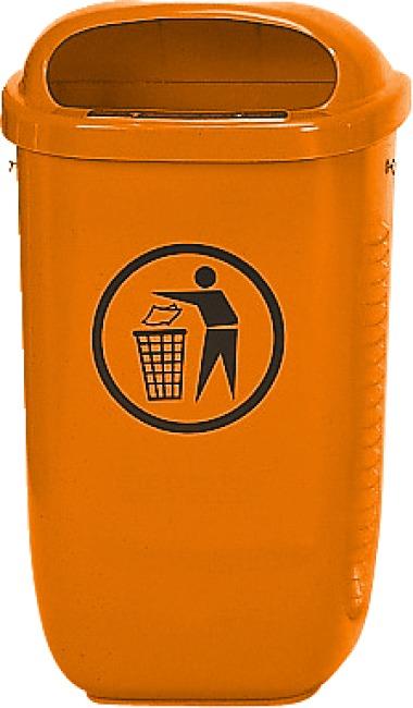 Abfallkorb nach DIN Standard, Orange