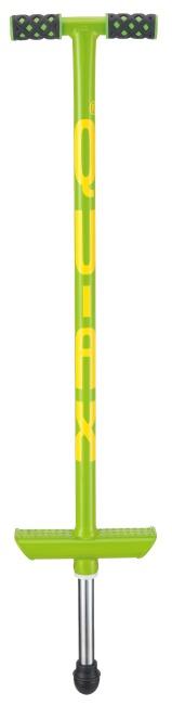 Bâton sauteur Qu-Ax® Pogo-Stick Vert fluo, L : 86 cm, jusqu'à 20 kg