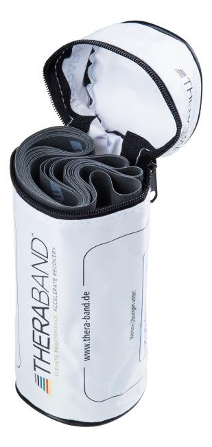 Bande Thera-Band® 250 cm avec tube de rangement Noir, extra difficile