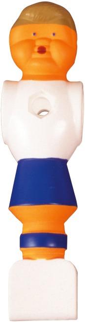 Fussball-Kickerfigur Weiss-Blau
