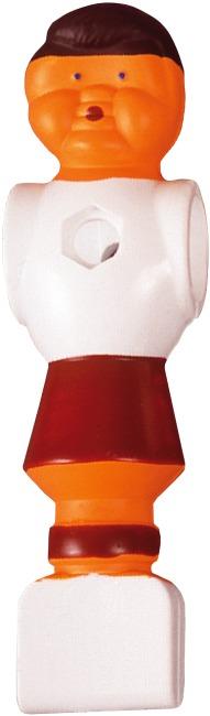 Fussball-Kickerfigur Weiss-Rot