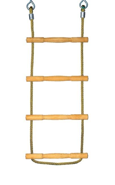 Huck Strickleiter Herkules-Tau mit Holzsprossen Gelb