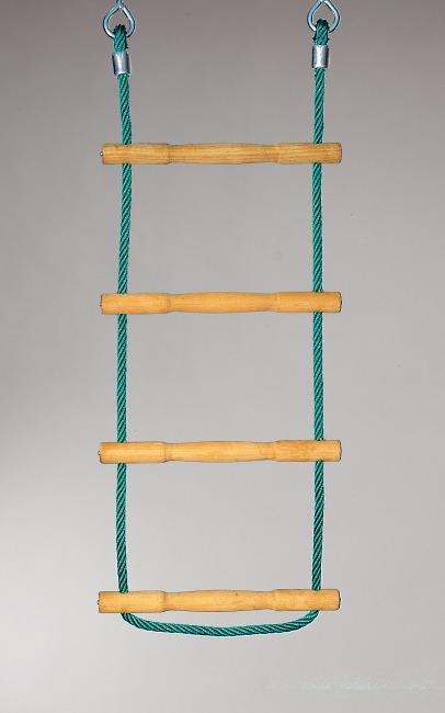 Huck Strickleiter Herkules-Tau mit Holzsprossen Grün