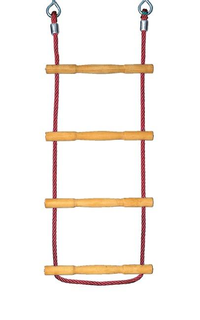 Huck Strickleiter Herkules-Tau mit Holzsprossen Rot
