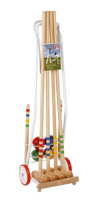 jeu de croquet en bois avec chariot fr sport. Black Bedroom Furniture Sets. Home Design Ideas