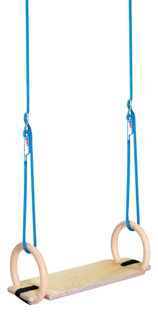 Kit d'anneaux Sport-Thieme® pour l'intérieur Avec planche de balançoire