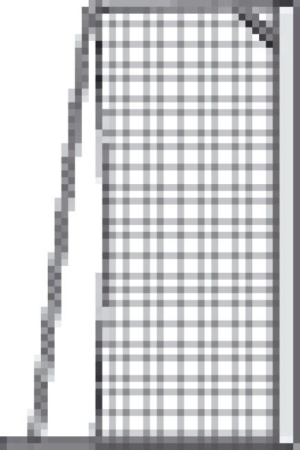 Knotenloses Jugendfussballtornetz 515x205 cm