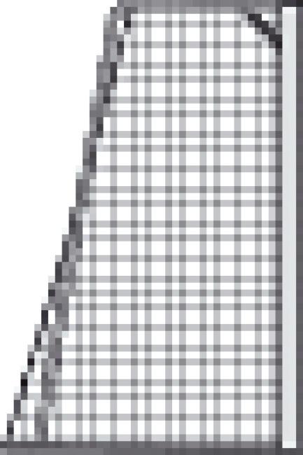 Knotenloses Jugenfussballtornetz 515x205 cm Grün-Weiss