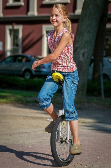 Monocycle d'extérieur Qu-Ax® « Luxe » Pneu 20'' (ø 51 cm), cadre chromé