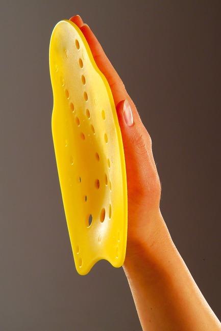 Paddles de natation Taille S, 18x13 cm, Jaune